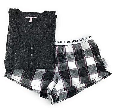 3d618c6ccc77a Victoria's Secret Pajama Set Dreamer Flannel Boxer Short and Long ...