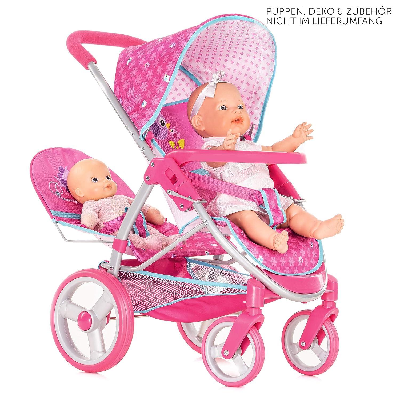 Amazon.es: Hauck Silla de paseo muñecas gemelar Malibu Duo, Rosa: Juguetes y juegos