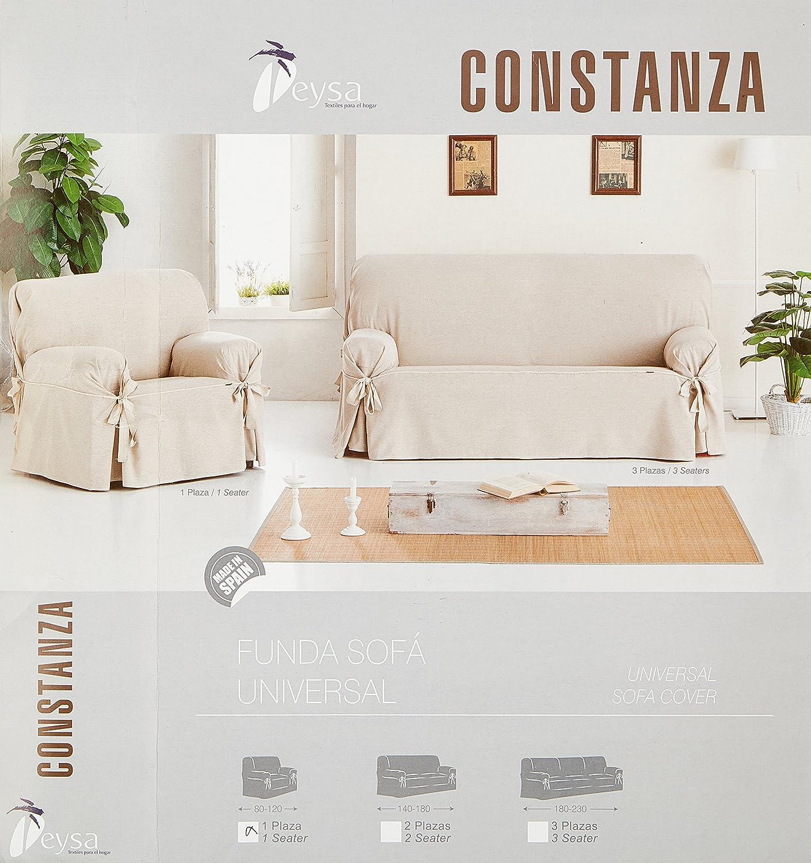Eysa Constanza - Funda de sofa de lazos, color lino, 80 a 120 cm, 1 plaza