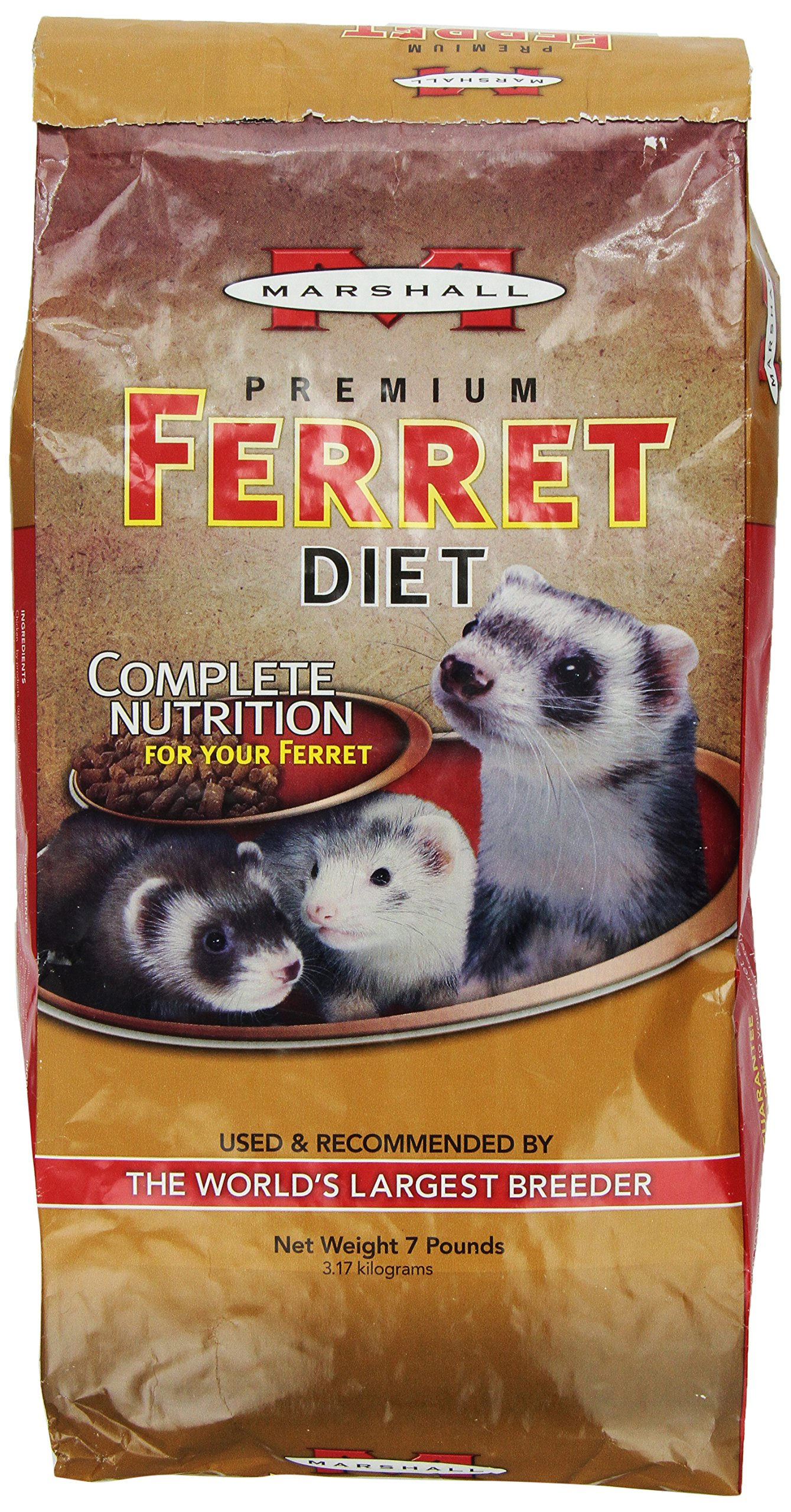 Marshall Premium Ferret Diet, 7-Pound Bag by Marshall Pet Products
