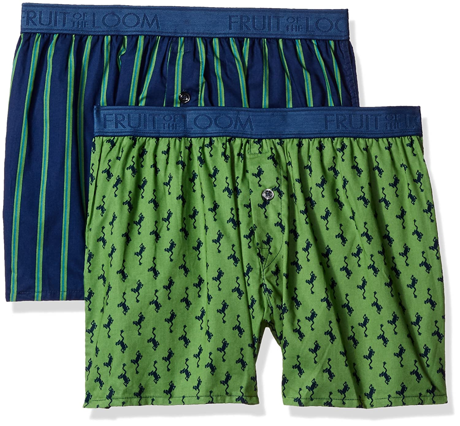 Fruit of the Loom Mens Cotton Stretch Boxer -Dup Pack of 2