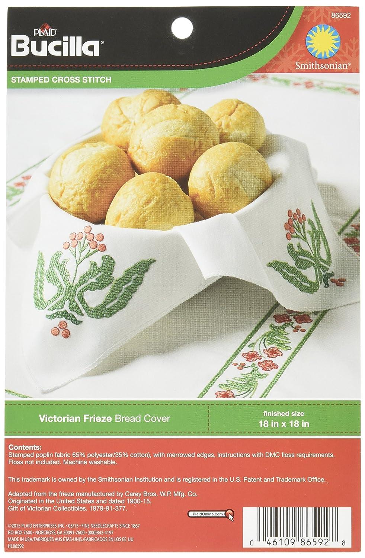 Amazon com: Bucilla Stamped Cross Stitch Bread Cover Kit