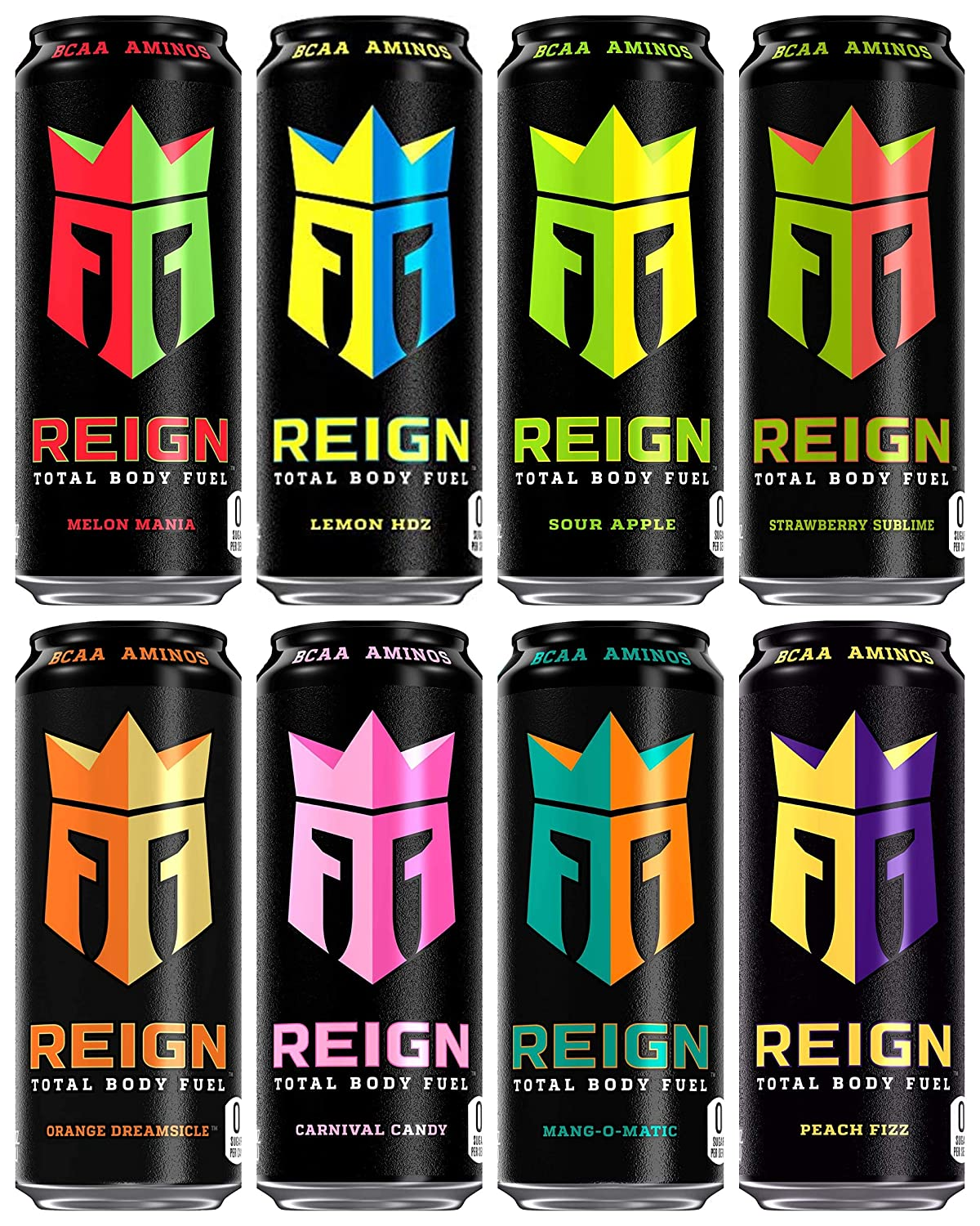Amazon.com : Reign Total Body Fuel, 8 Flavor Variety Pack, Fitness & Performance Drink, 16oz (Pack of 8) : Grocery & Gourmet Food