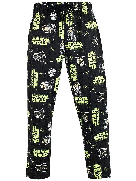Star Wars Pantalones de Pijama para Hombre Stormtrooper y Darth Vader Negro Small