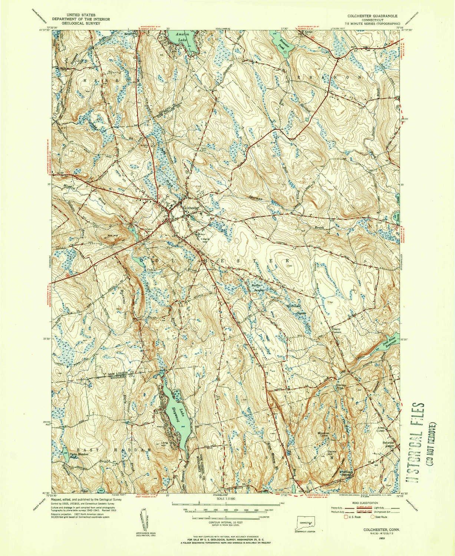 Topographic Map Ct.Amazon Com Yellowmaps Colchester Ct Topo Map 1 31680 Scale 7 5 X