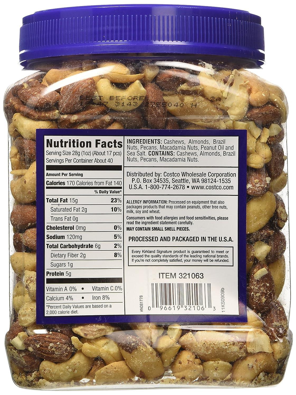 Com Kirkland Signature Fancy Mixed Nuts 40 Ounce Grocery Gourmet Food