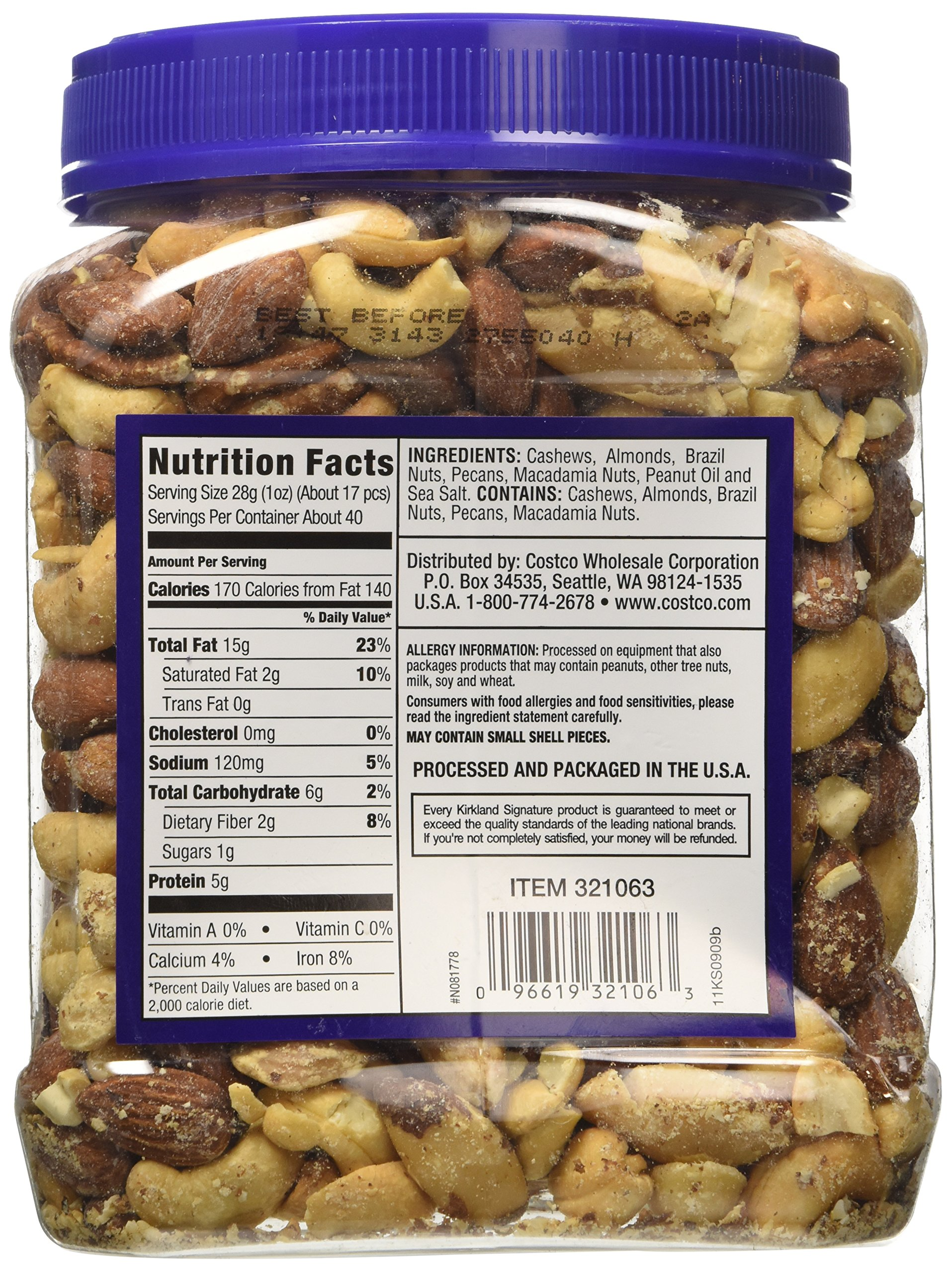 Signature's Kirkland Fancy Mixed Nuts, 40 Ounce by Kirkland Signature (Image #2)