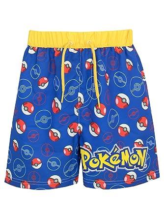 67ba13045d Pokemon Boys Pokeball Swim Shorts Ages 5 to 13 Years Blue: Amazon.co.uk:  Clothing