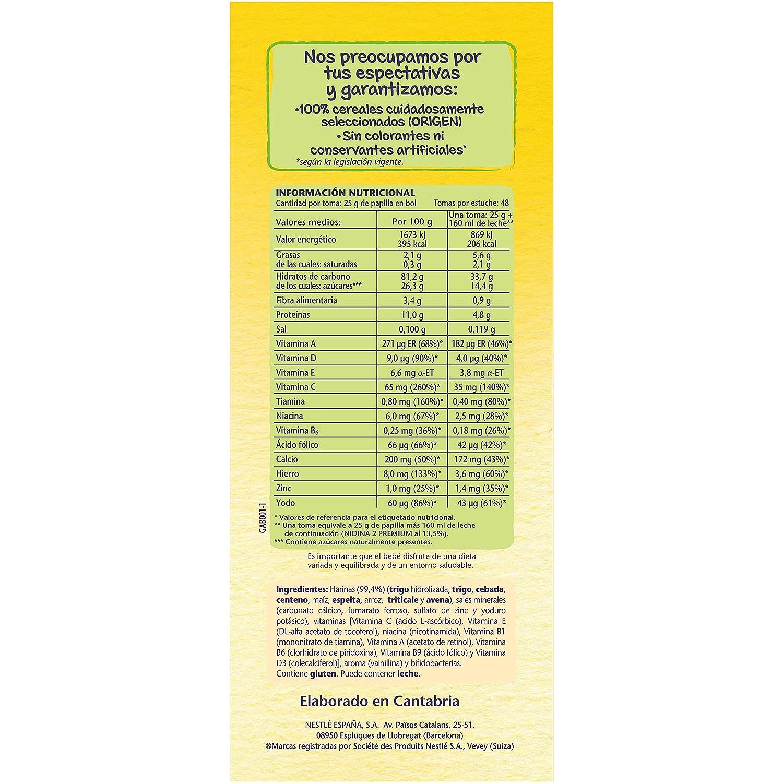 Nestlé Papillas 8 Cereales A Partir De 6 Meses - 1200 g: Amazon.es: Amazon Pantry