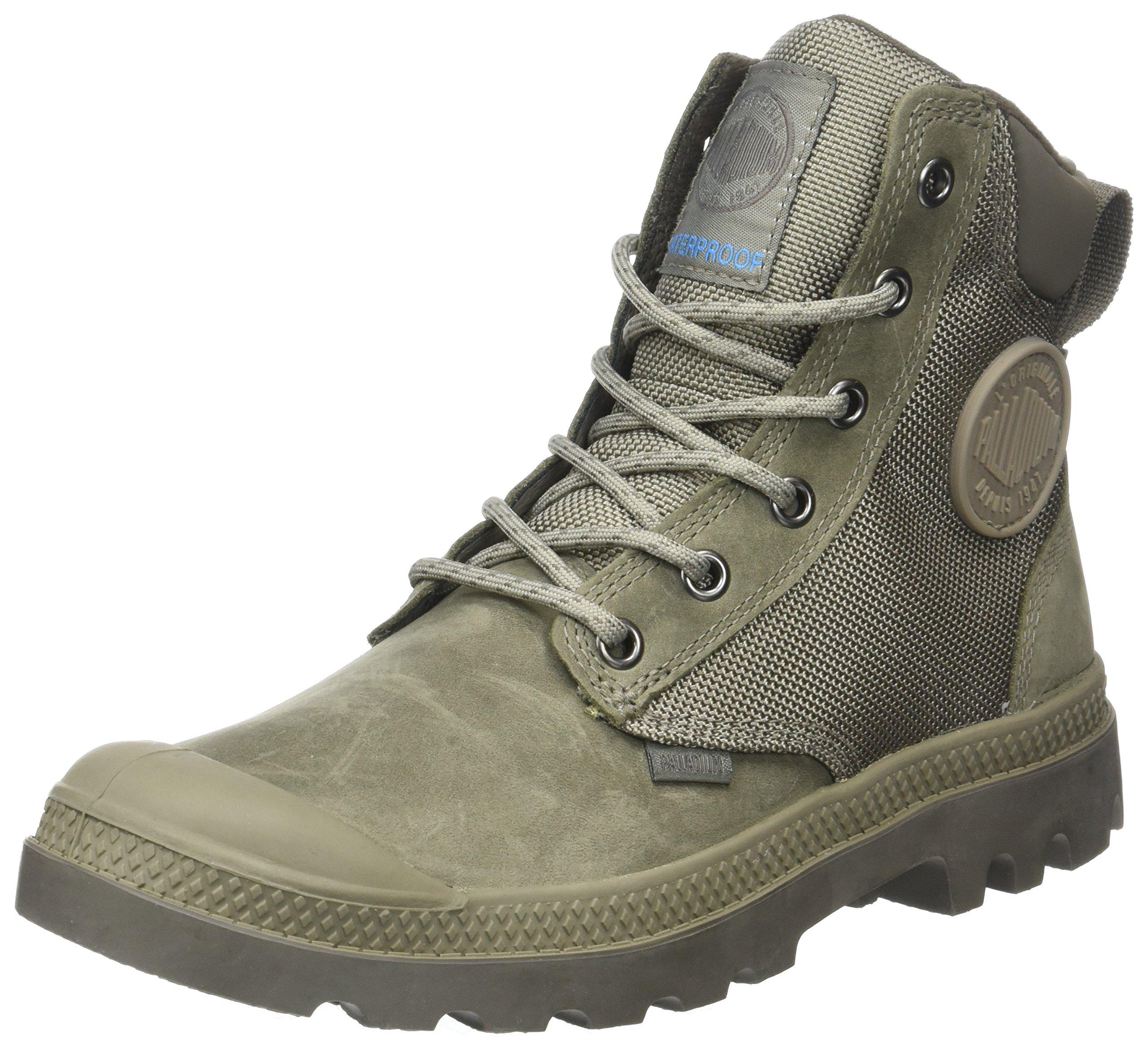 Palladium Men's Pampa Sport Cuff Wpn Boots, Grey, 8 US