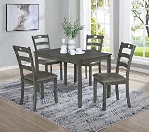 Coaster Home Furnishings Tillie 5-Piece Grey Dining Set