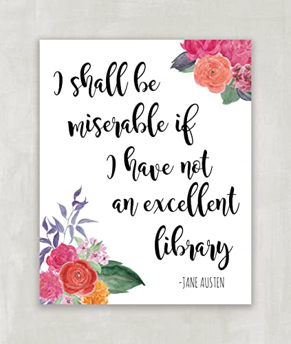 Amazon Jane Austen Quote Pride And Prejudice Wall Art Print