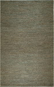 Rizzy Home Whittier Collection Jute Area Rug, 9' x 12', Blue/Natural Solid