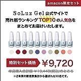 【SoLuzGel(ソルースジェル) 】年間ランキングTOP10の人気カラージェル10色セット/簡単!マニキュア感覚のポリッシュタイプ[本格サロン品質] Am10(たっぷり12ml×10色入り)