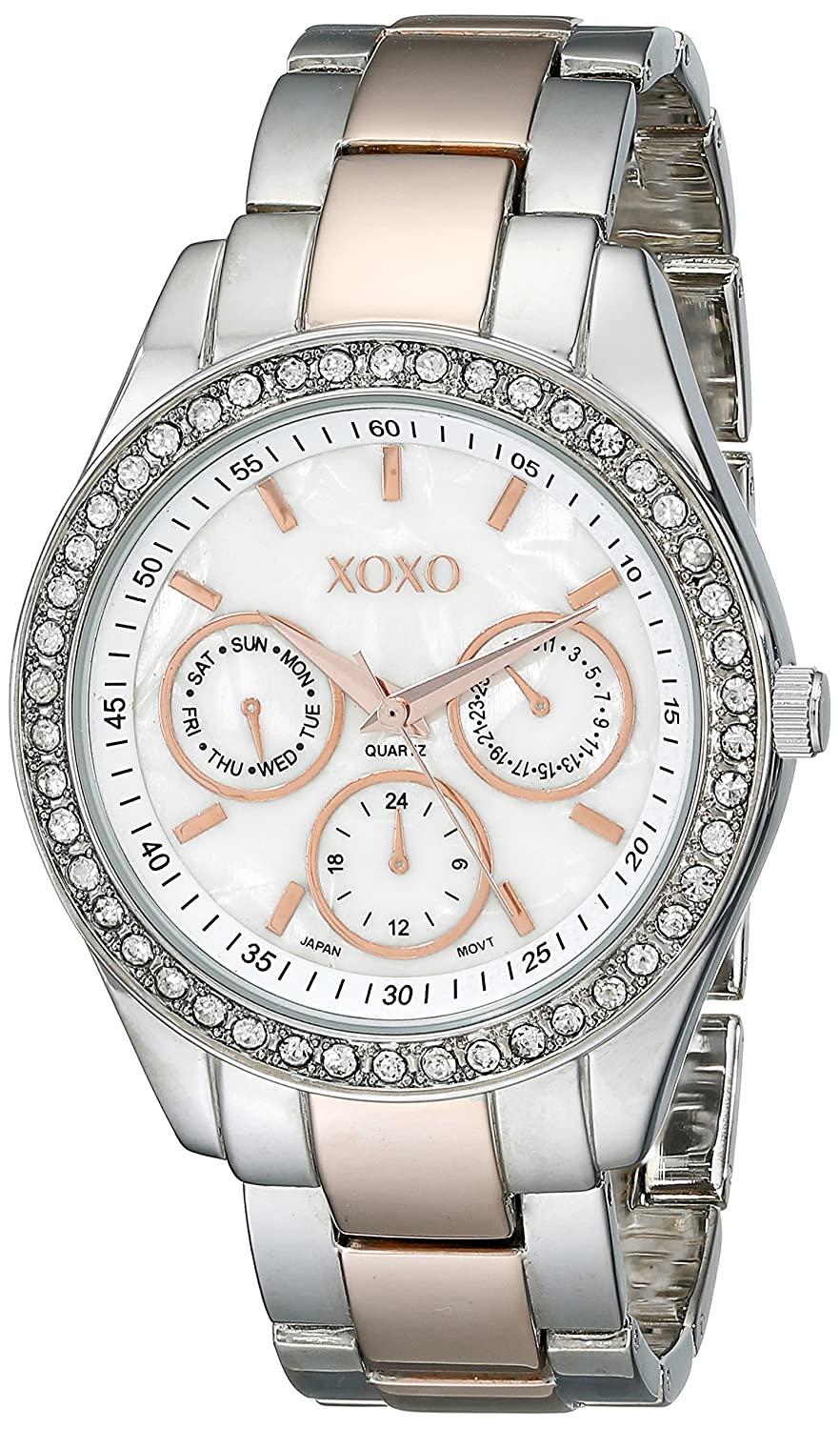 Amazon.com: XOXO Womens XO5454 Rosegold And Silver-Tone Bracelet Watch: Watches