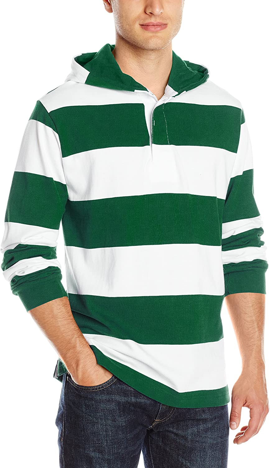 Charles River Apparel Mens Hooded Rugby Pullover