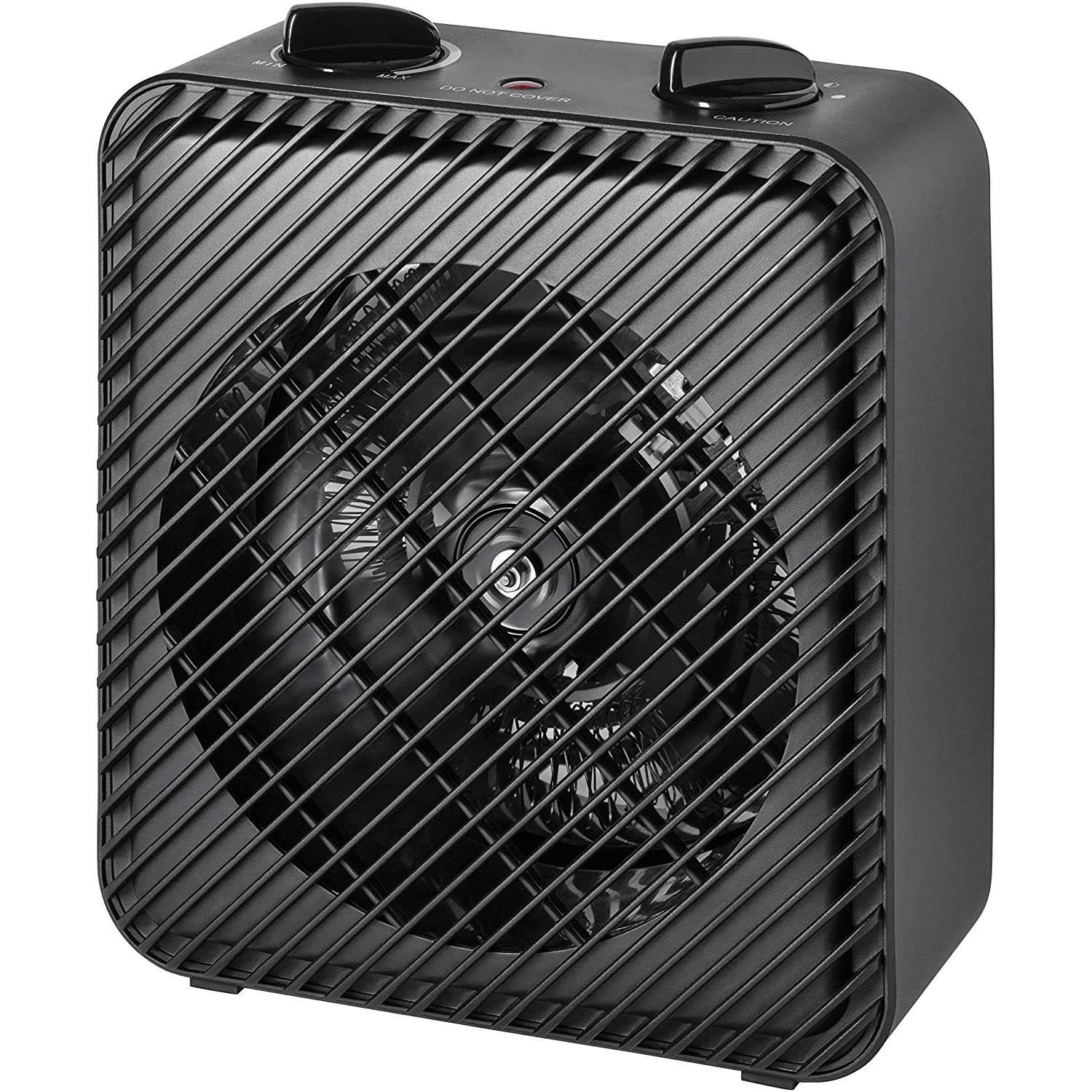 FAN-FORCED HEATER BLACK