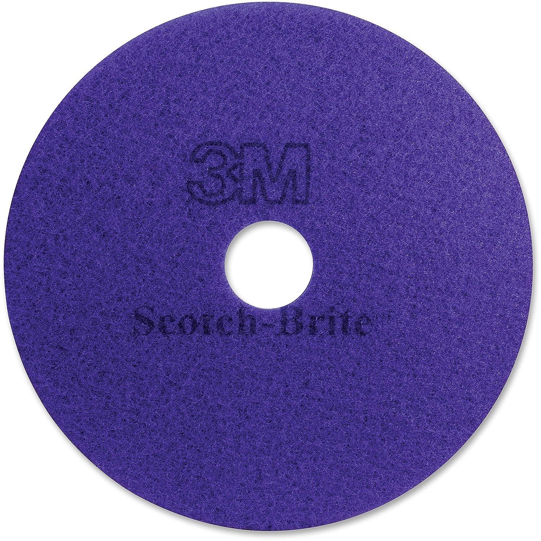 3M 23894 Diamond Floor Pads, 20-Inch Diameter, Purple, 5/Carton