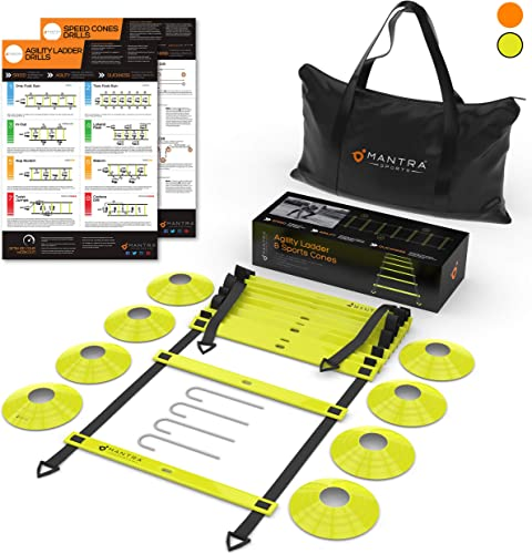 20ft Agility Ladder Speed Cones Training Set