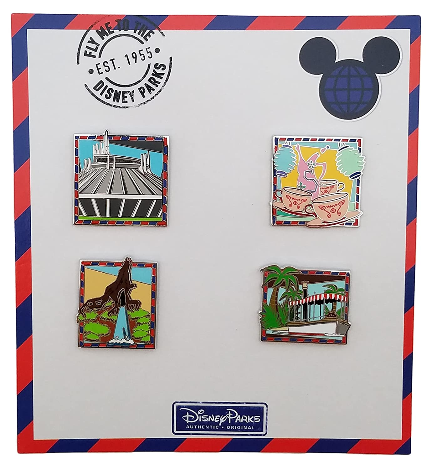 Disney Pin - Fly Me To Disney Parks Booster Set