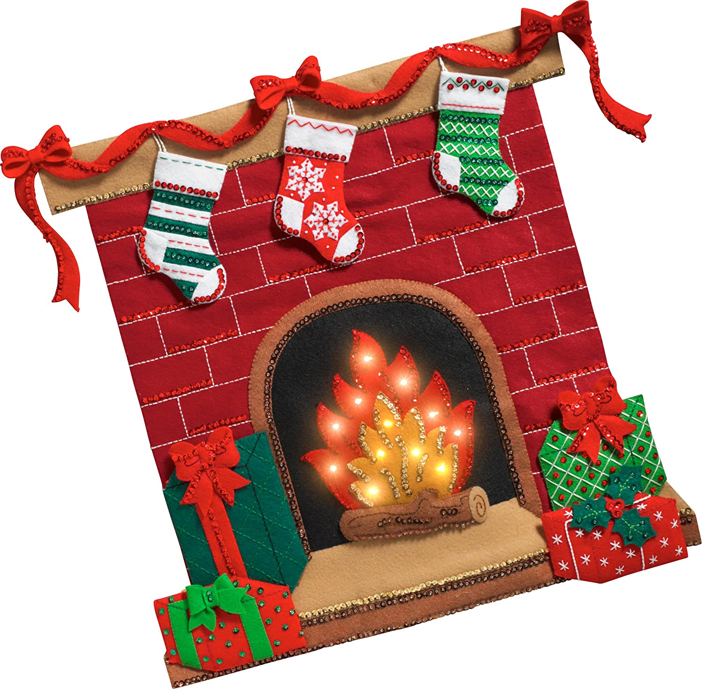 Bucilla 86821 Fireside Glow Wallhanging Kit Plaid Enterprises Inc.