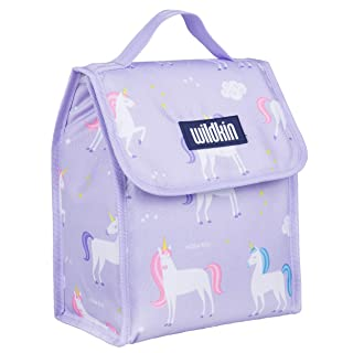 Wildkin 55803, Olive Kids Lunch Bag, Insulated, Moisture Resistant, Easy to Clean and Folds Flat Making Storage That Much Easier-Unicorn