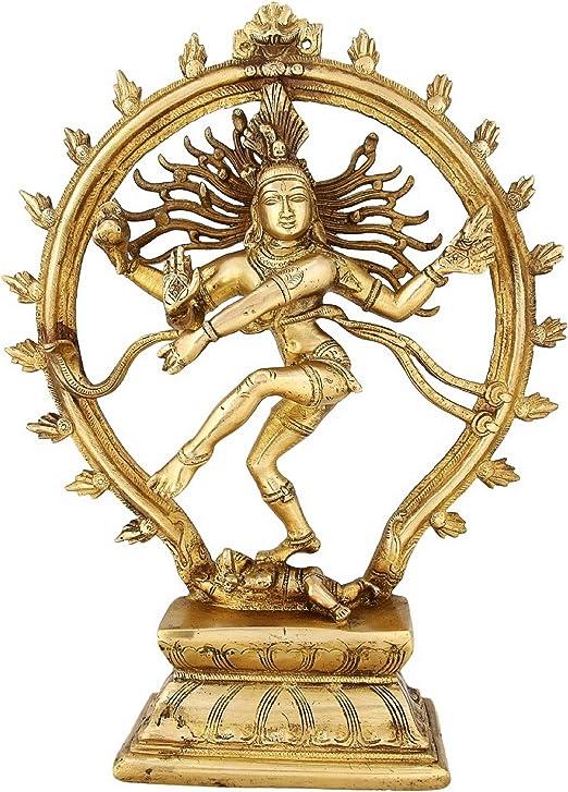 Shalinindia Arte de la India hinduismo decoración Dancing Señor Shiva Nataraja Estatua Religiosa Regalo 13 Pulgadas 3.38 kg Grande: Amazon.es: Hogar