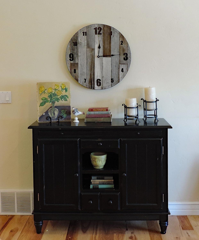 24 inch Large Mama Bear Rustic Wall Clock * Big Barn Wood Clock with reclaimed wood, raw steel ring, rusty screws
