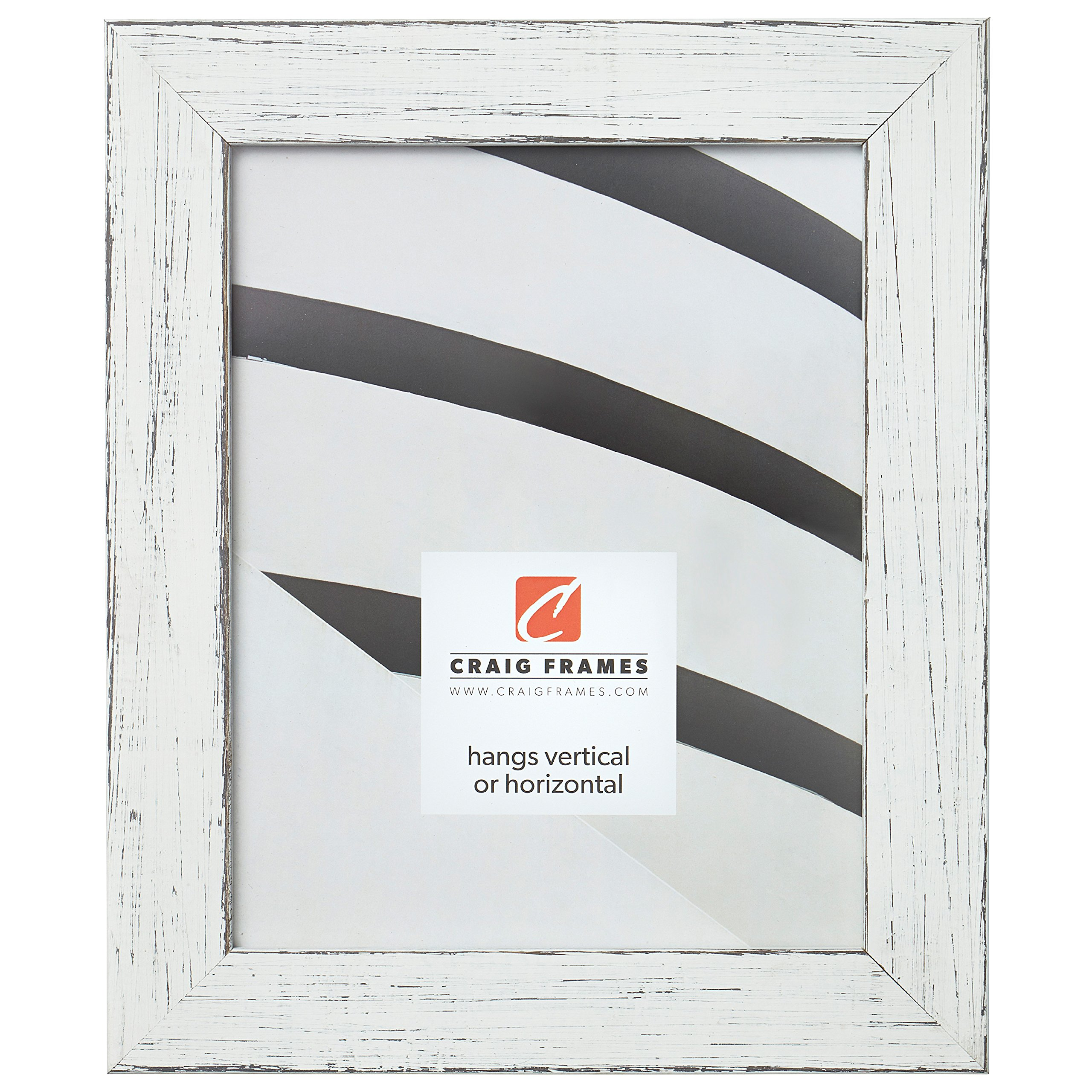 Craig Frames Jasper Picture Frame, 10 x 13 Inch, Country Marshmallow White by Craig Frames