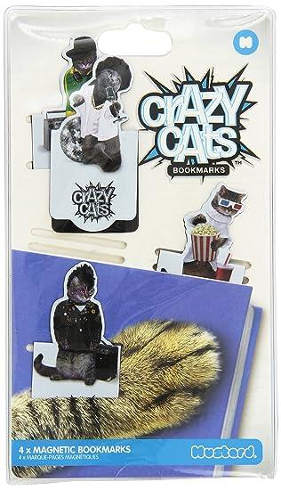 Mustard m16046 C Marcador de libros (magnético, Crazy Cats: Amazon.es: Oficina y papelería