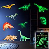 Dinosaur Wall Decals for Boys Girls Room, Glow in The Dark Stickers, Large Removable Vinyl Decor for Bedroom, Living…
