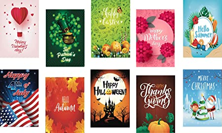 Amazon Com Beautifullife Seasonal Garden Flags Set Of 10 Bright