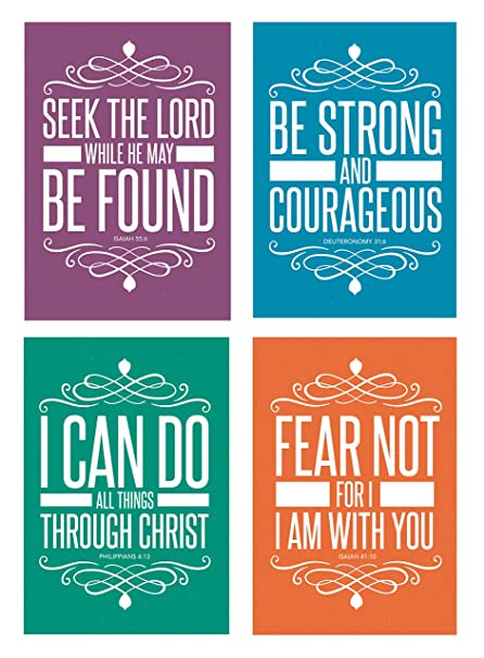 Bible Quotes Unique Amazon Christian Assorted POSTCARDS 48 Pack Religious Bible