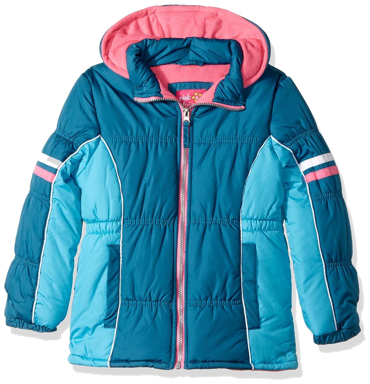 Pink Platinum Girls' Colorblock Active Puffer 94488
