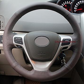 Toyota Auris Black /& Grey Steering Wheel Cover Glove 37cm