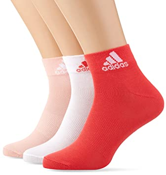 Adidas per Ankle T 3Pp Calcetines, Hombre, (Suabri/Blanco / Rosbas)