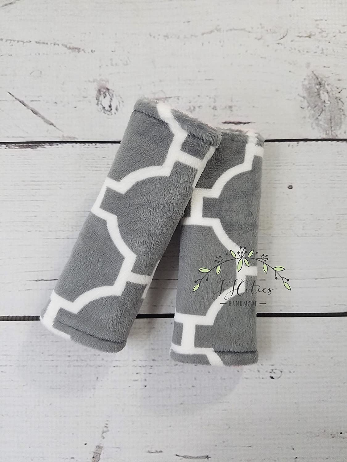 Baby car seat strap-pink minky car seat neck strap-stroller seat straps-reversible seat strap-infant car seat strap-minky car seat strap-geometric car seat strap-gray car seat strap