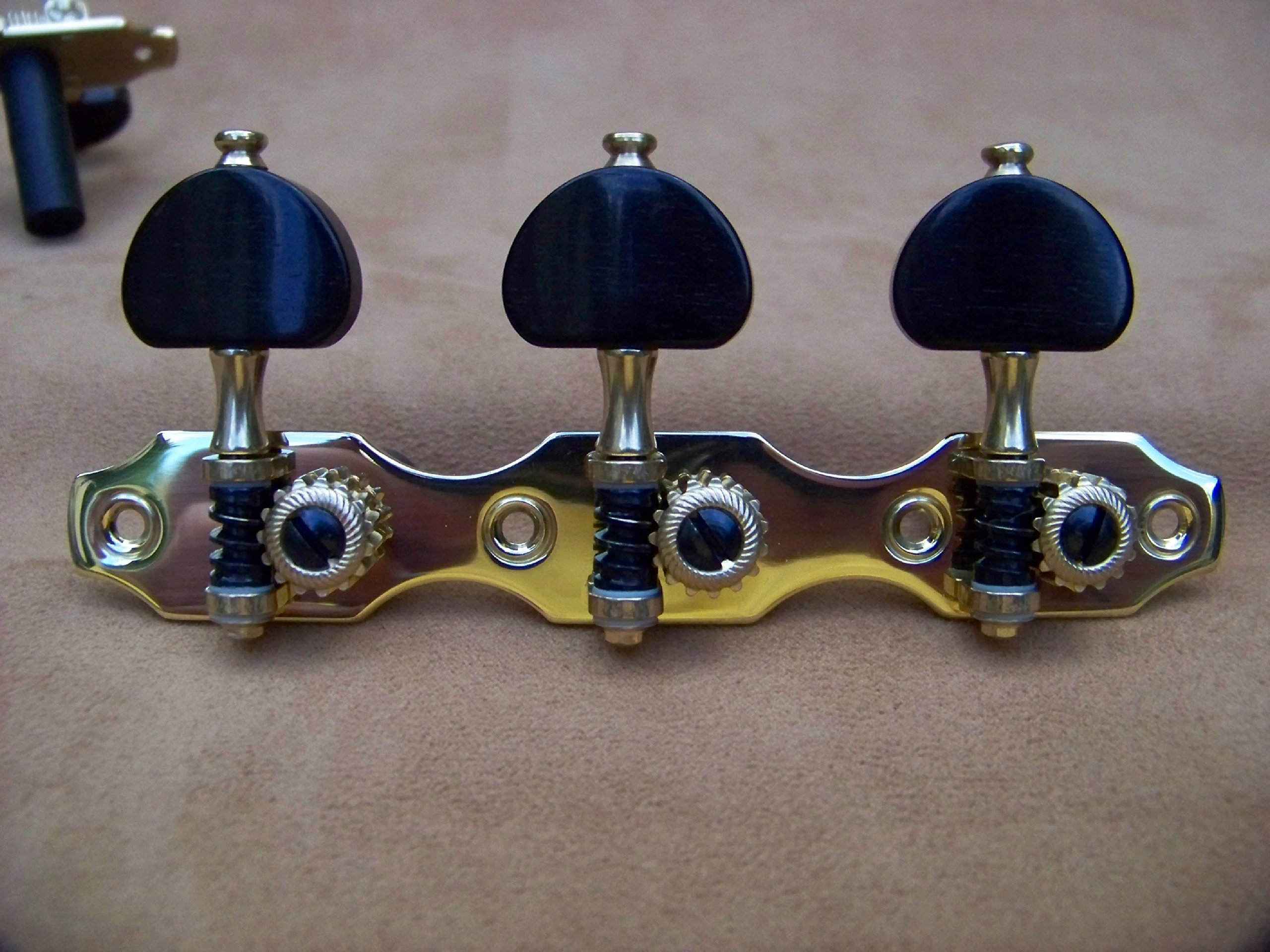 Rubner Classical Guitar Tuning Machines-Ebony Hauser with Moldflon Bearings