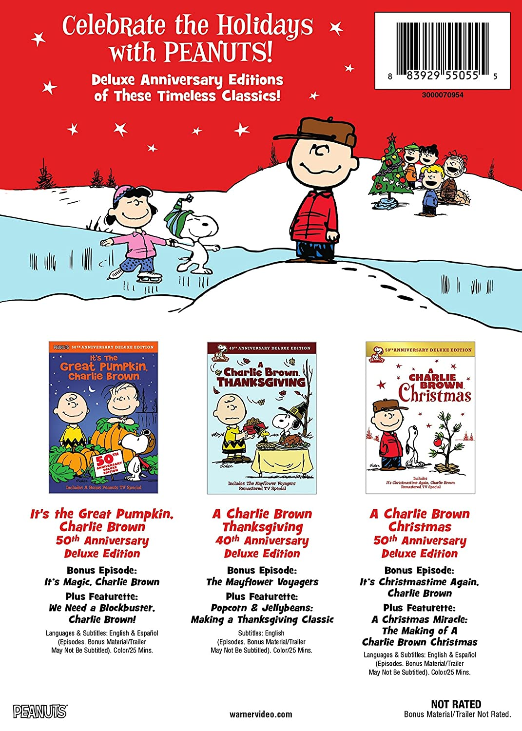 Amazon.com: Peanuts Holiday Anniversary Collection (DVD): Various ...