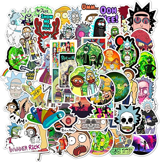 4 options Rick//Morty Vinyl Sticker Lot