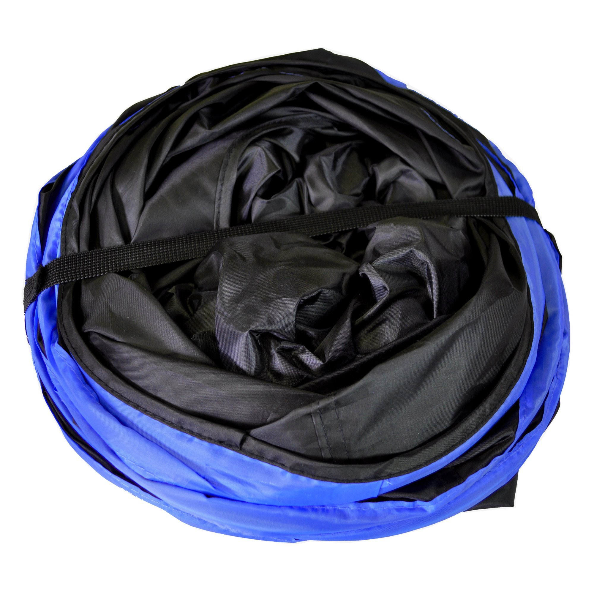Purrfect Feline New Cat tunnel Design, Collapsible 4-way Cat Tunnel Toy with Crinkle (Medium, Dark Blue) by Purrfect Feline (Image #3)