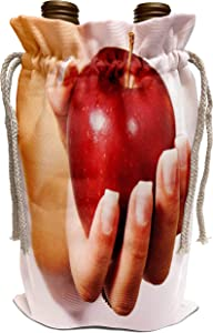 3dRose Yves Creations Berries and Fruit - Red Apple - Wine Bag (wbg_29108_1)