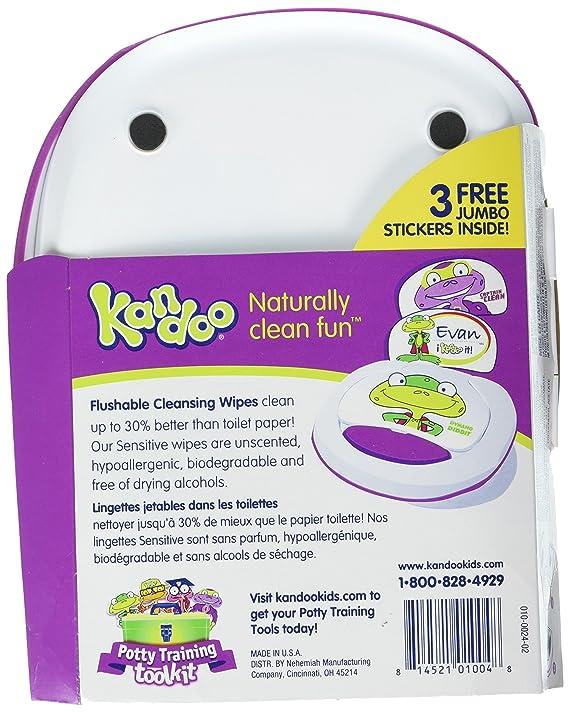 Kandoo Flushable Sensitive Toddler Wipes Tub 50ct by Kandoo: Amazon.es: Bebé