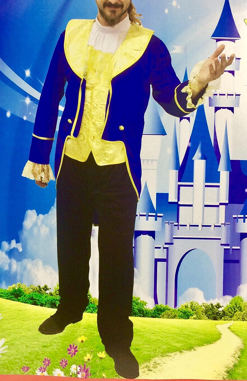 Disfraz de Príncipe, azul, La Bestia, Adulto. Tallas M., L. y XL ...