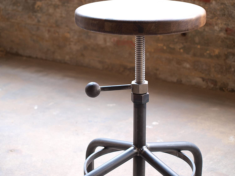Amazon.com: Industrial Stool Walnut Adjustable Drill Press Stool: Handmade