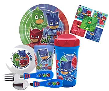 Zak! Designs Todderific Mealtime Set Includes Sippy Cup, Plate, Bowl, Tumbler Cup