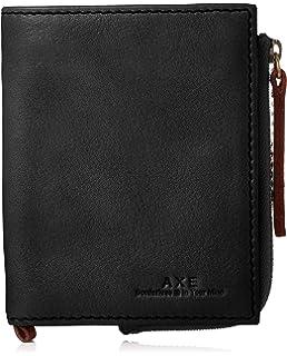 3dedcd359f22 Amazon   [アックス] AXE カプチーノ 二つ折り財布 140602 BLK (クロ ...
