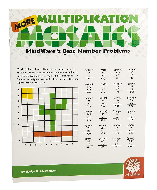 Amazon.com: MindWare More Multiplication Mosaics (0736970261225 ...