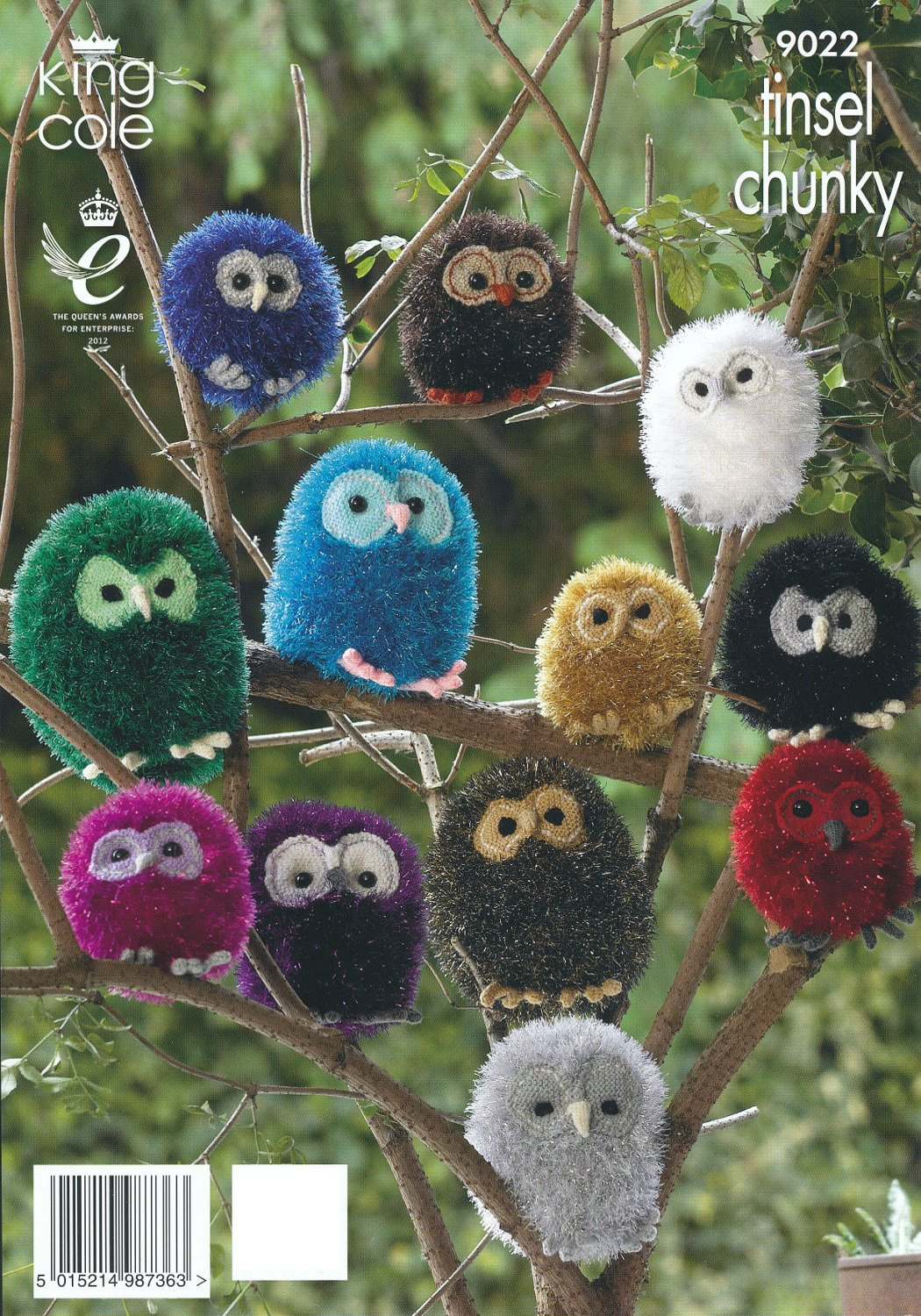 King Cole Tinsel Chunky & Dollymix DK Knitting Pattern Owl Animal ...
