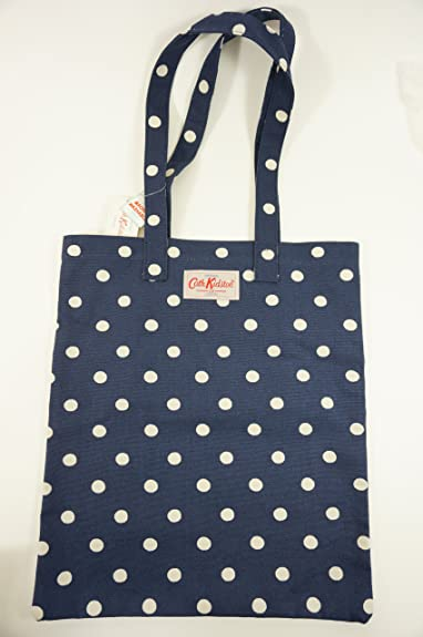 Cath Kidston NEW Cotton Book Bag Spot Navy: Amazon.co.uk: Shoes & Bags